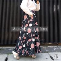 Rok Panjang Wanita Payung Muslimah Milena Wolvis Umbrella Skirt Almira