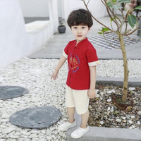 Qipao set baju setelan anak cowok imlek