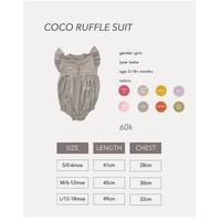 Cocopop Baby COCO Ruffle Suit ( Baju Polos Kaos Katun Bayi Cotton Jump