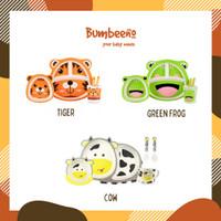 [Bumbeeno] Bamboo Fiber Feeding Set/Kids Tableware Type D