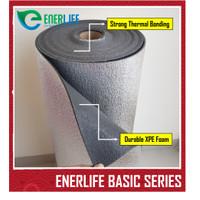 Aluminium Foil Atap, Thermal Foam 4mm Single Side (METERAN)