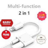 Adapter Lightning to AUX 3.5mm Earphone + Lightning iPhone 7/8/X
