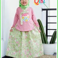 Gamis Anak Usia 3-9tahun  Snow White Series  by Qibi/Baju Muslim