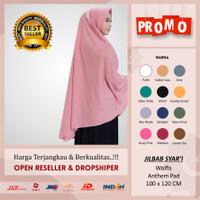 Khimar Jumbo hijab 100x120 jumbo jilbab wolfis antem kerudung instan