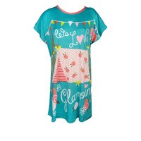Young Curves CW Microfiber Sleep Dress C01-P00871TUR