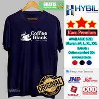 Baju Kaos Distro Pria Murah t shirt Original Keren Cofee Black Grosir - Hitam, M