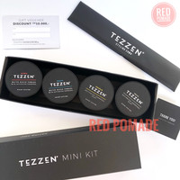 POMADE TEZZEN MINI KIT 1 SET ALPHA BRAVO CHARLIE DELTA CLAY WATERBASED