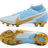 sepatu bola Nike mercurial Superfly 7 elite blue white gold FG