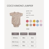 Cocopop Baby COCO Kimono Jumper ( Baju Polos Kaos Katun Bayi Cotton Ke
