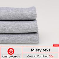Kain Bahan Kaos Katun Cotton Combed 24s & 30s 2 Tone per 1/2 Kg - 30s