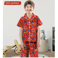 Piyama anak spiderman/baju tidur anak laki laki spiderman