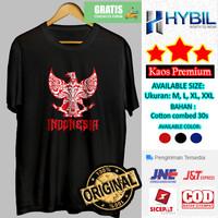 Baju Kaos Distro Pria Lengan Pendek Garuda DIDadaku Indonesia Premium - Putih, M