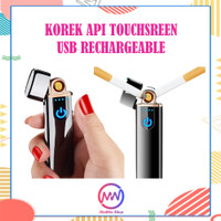 Korek Api Elektrik USB Fingerprint Touch Sensor LED Display Power