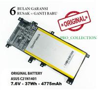 Baterai Battery Original Asus C21N1401 For Laptop Asus A455L X455LA