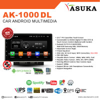 HEAD UNIT ASUKA ANDROID AK-1000/ DOUBLE DIN ASUKA ANDROID AK-1000