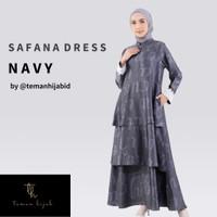 Busana Muslim Wanita Maxy Dress Gamis Wanita Safana Dress