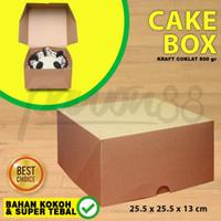 Kotak Box Dus Kue Cake 25x25 | KRAFT COKLAT| Blackforest-Lapis-Bolu