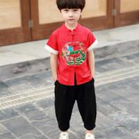 Qipao setelan baju anak laki laki imlek cowok