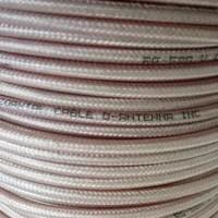 Kabel RG 58 Transparan Coax RG-58 Telflon D-Antenna Cable Teflon