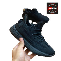 Sepatu Adidas Yeezy 350 V2 Black Sneakers Anak Laki Perempuan Casual