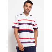 FILA Baju Olahraga Pria Heritage Polo Shirt - White