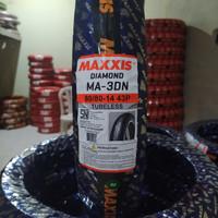 ban tubeless maxxis type diamond 80/80 r14 free pentil besi pendek