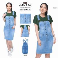 overall rok jeans wanita/jumpsuit jeans/baju kodok 116
