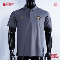 Polo Shirt Timnas Indonesia MILLS Charcoal
