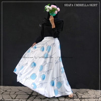 Rok Panjang Wanita Muslimah Payung Shafa Umbrella Skirt Almira