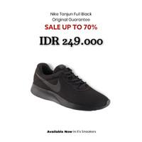 PROMO   Sepatu Nike Tanjun Original - Full Black - 40