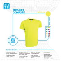 Kaos Polos Premium Koze - Neon Yellow