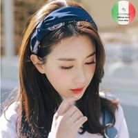 Korea Style Bandana Rajut Bendo Rambut Karet Elastis Fashion Wanita