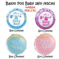 Balon Foil Baby 18in / Baju Bayi Lahiran Gold Confetti Baby Shower