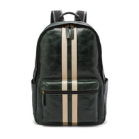 Tas Fossil Buckner backpack stripe spruce leather 100% AUTHENTIC