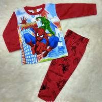 Baju Tidur Piyama Anak Laki Keren 5-6 Thn Motif Spiderman