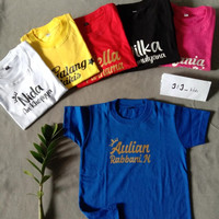 Kaos nama anak costum Baju nama anak