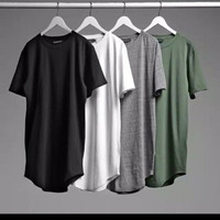 Baju Longline Shirt Tshirt Pria oversize Model Korea