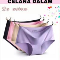 Celana Dalam Seamless Tanpa Jahitan Anti Nyeplak Fashion Es Sutra CD