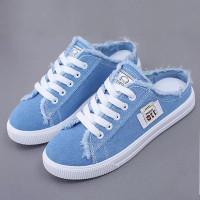Sepatu Kets Wanita DENIM BIRU/HITAM/ PUTIH LOW foxing D110NEW