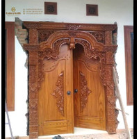 Kusen Pintu Gebyok Jati Ukir Bali, Pintu Rumah Kayu Jati