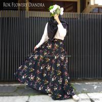 Rok Panjang Wanita Muslimah Payung Flowery Diandra Umbrella Skirt