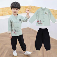 Qipao set baju setelan anak laki laki imlek cowok