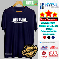 Kaos Cowok Distro Bahan Katun Combed 30s Pria Baju Muslim 2020 - Putih, M