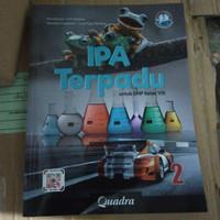 buku IPA terpadu kelas 8 Penerbit QUADRA