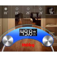 Timbangan Badan Digital Kaca Bula Temperature Sensor & Isi Daya