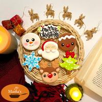 butter cookies dengan icing | kukis hias natal christmas character
