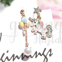 Anting Stud Unicorn Balon Anting Kuda Poni Imut Earrings GH 203264