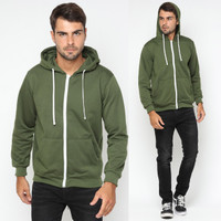 Hoodieku Zipper Army