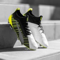 Sepatu Bola Puma One 5.1 FG Black Yellow Original