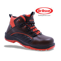 Pristine Ankle Boot - 9272 - S2 - Brown - Dr.OSHA Safety Shoes - 39,Cokelat